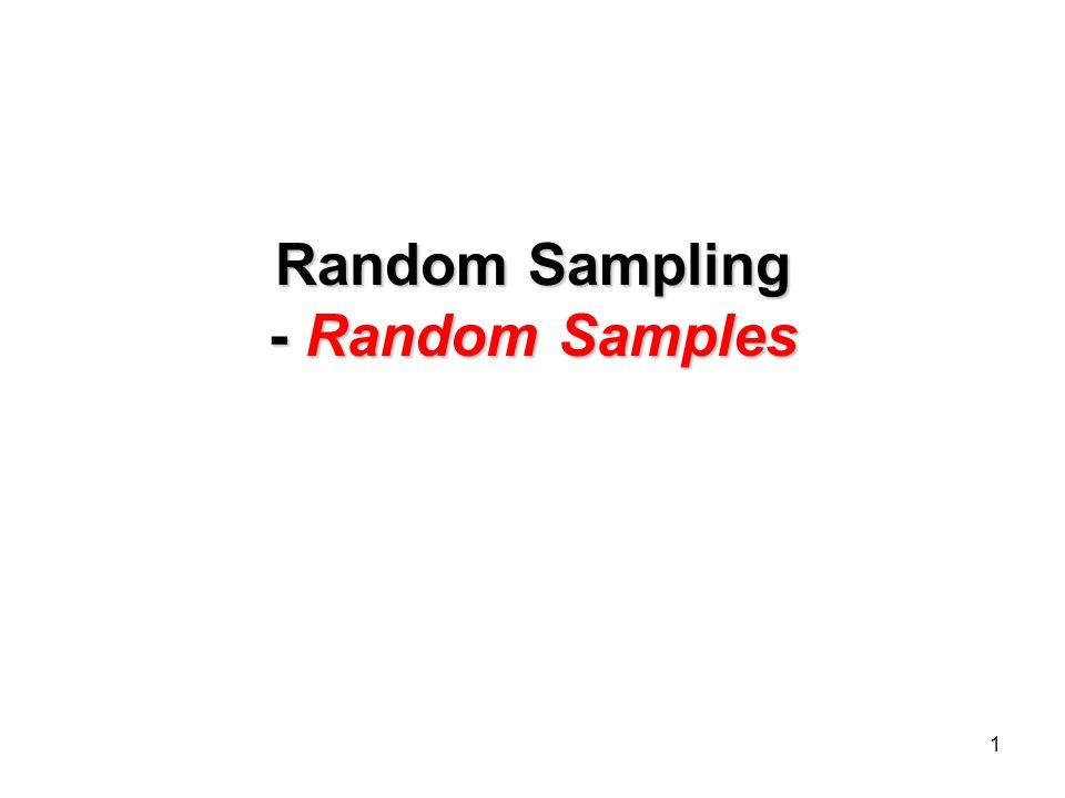 1 Random Sampling - Random Samples