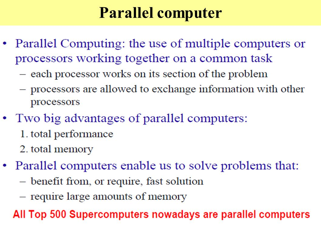 Parallel computer