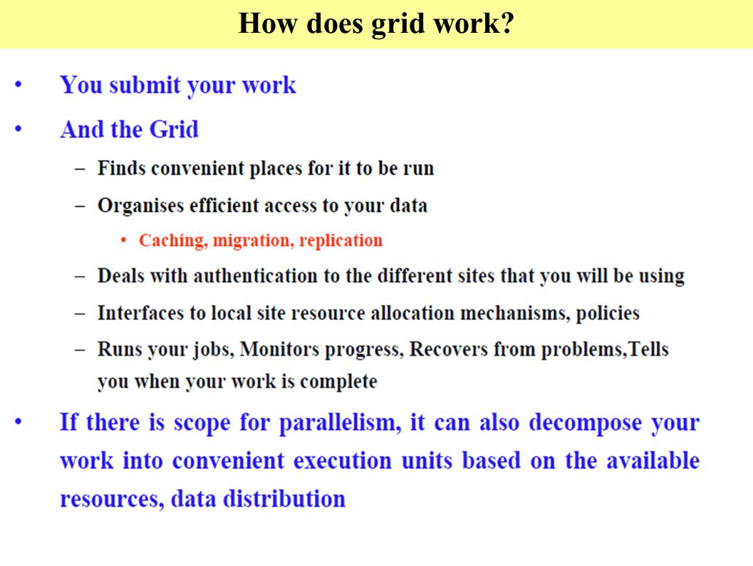 How does grid work