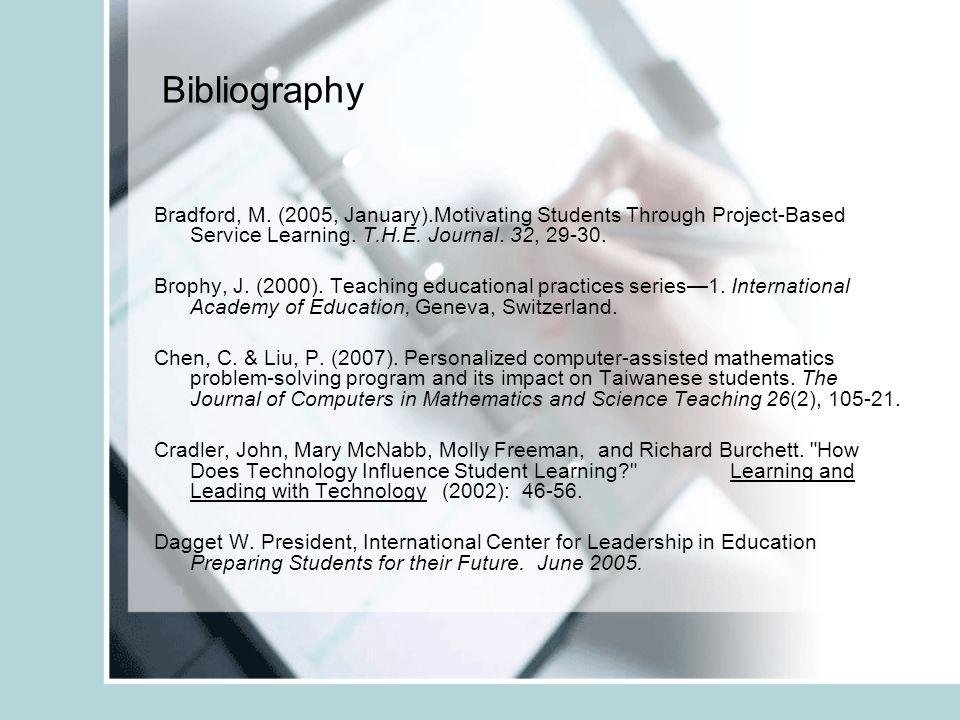 Bibliography Bradford, M.