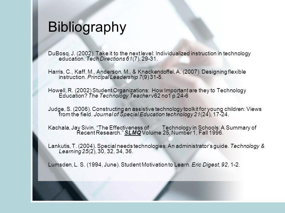 Bibliography DuBosq, J. (2002).