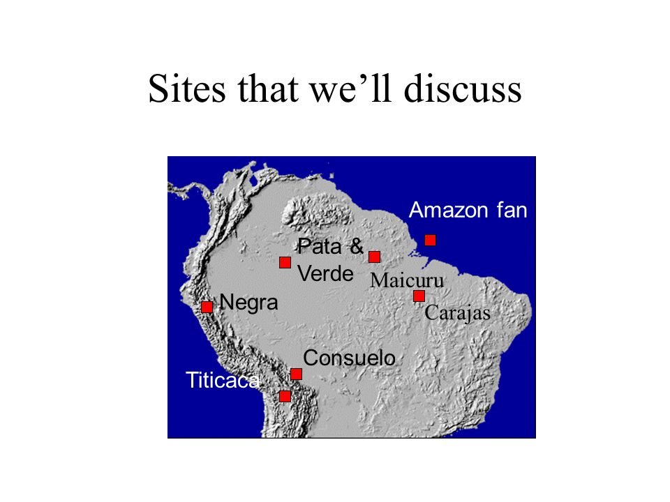 TRMM data and paleo locations Not surprising that the different paleoecological records are providing a different story