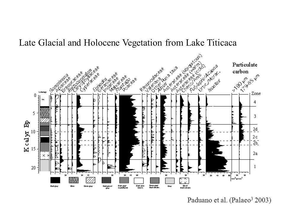 Lake Pata, Brazil 10, 000 18,000 22,000 34,000 48,000 Cal BP Colinvaux et al. (Science 1996)