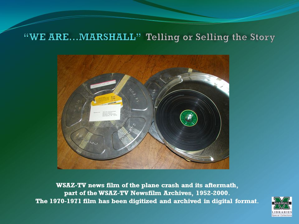 WSAZ-TV news film of the plane crash and its aftermath, part of the WSAZ-TV Newsfilm Archives, 1952-2000.