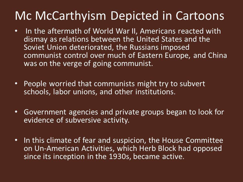 We now have new and important evidence Senator Joseph McCarthy s continued string of reckless charges of communism in government created such a sensation that the Senate appointed a special committee under Millard E.
