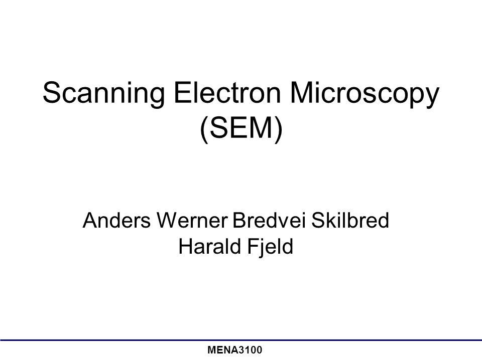 MENA3100 Scanning Electron Microscopy (SEM) Anders Werner Bredvei Skilbred Harald Fjeld