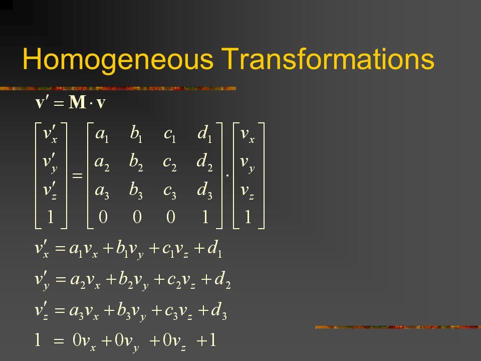 Homogeneous Transformations