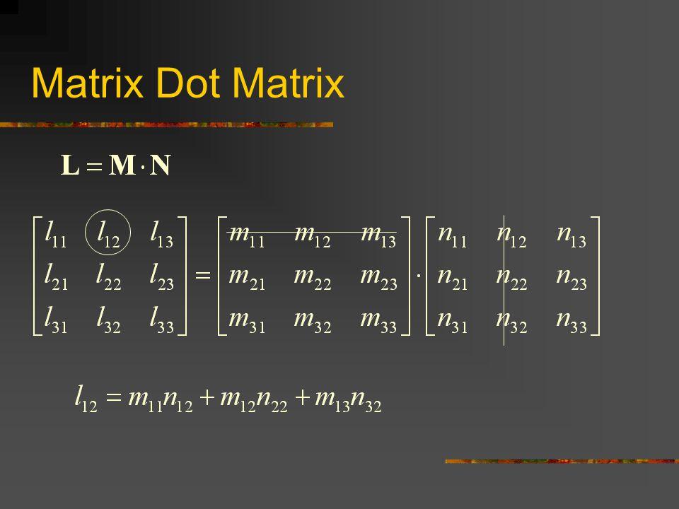 Matrix Dot Matrix