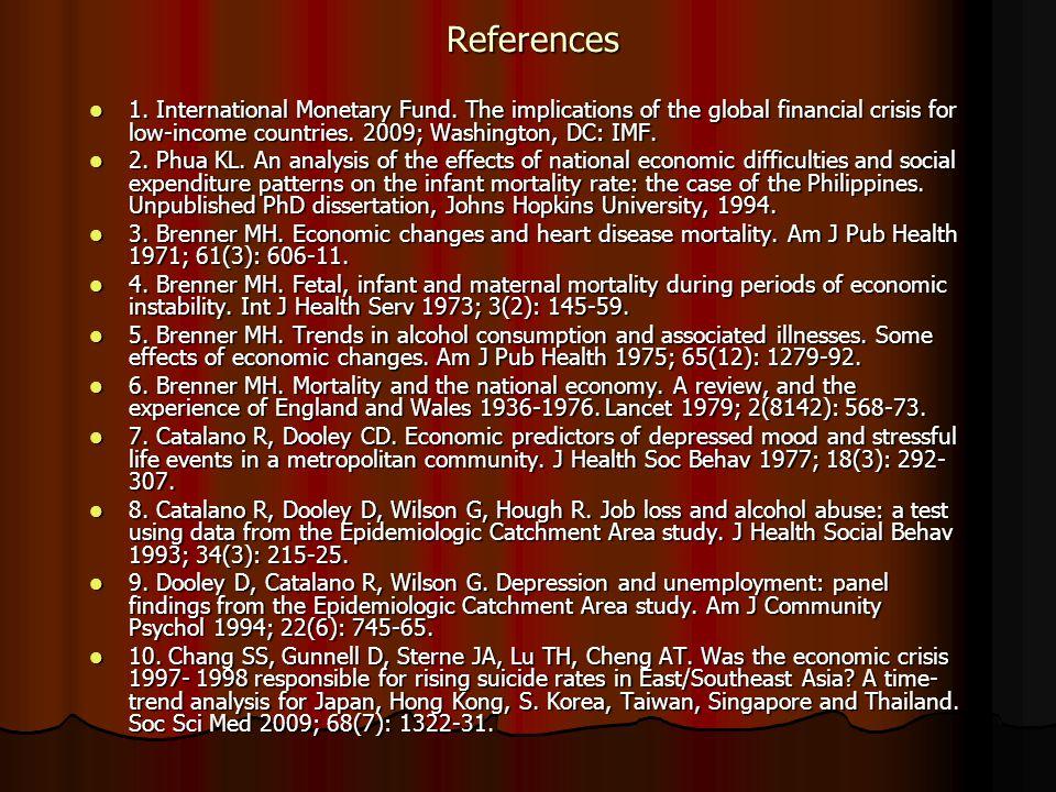 References References 1.International Monetary Fund.
