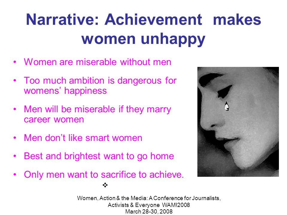 Women, Action & the Media: A Conference for Journalists, Activists & Everyone WAM!2008 March 28-30, 2008 In universities, women were 60 percent less likely to be supervising than men.