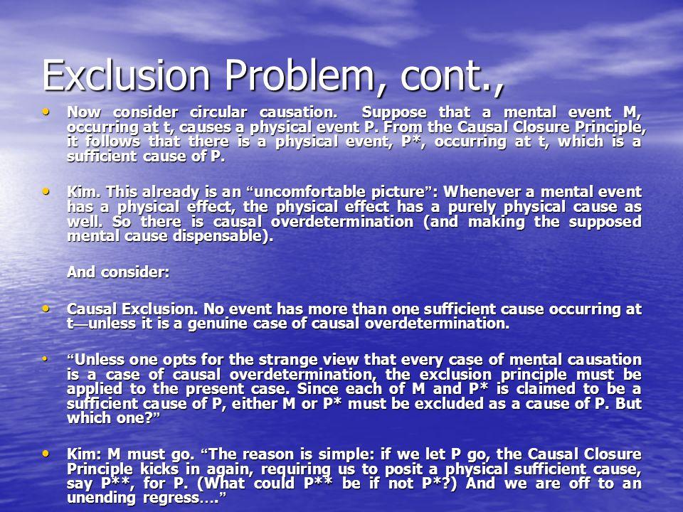 Problems, cont., 2.Content of beliefs, desires, etc.