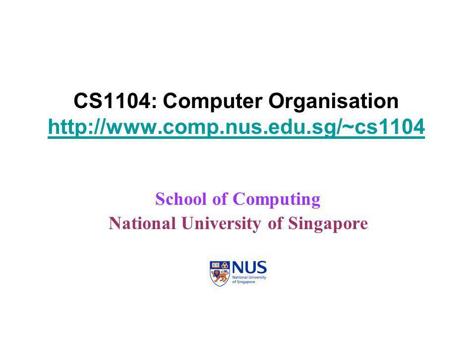 CS1104Benchmarking2  Definitions. SPEC '95.  Amdahl's Law.