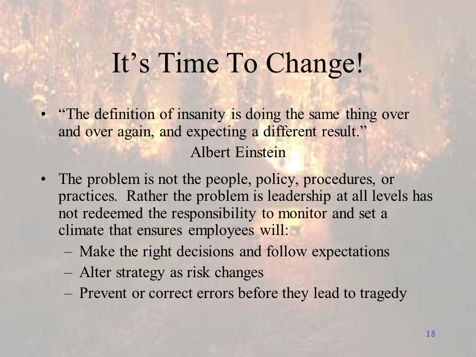18 It's Time To Change.