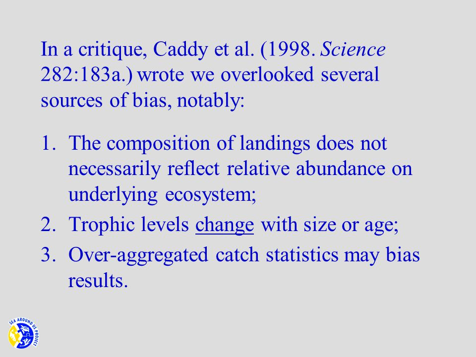 In a critique, Caddy et al. (1998.
