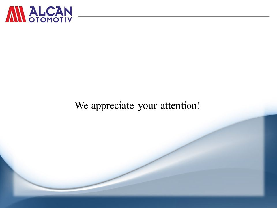 We appreciate your attention!
