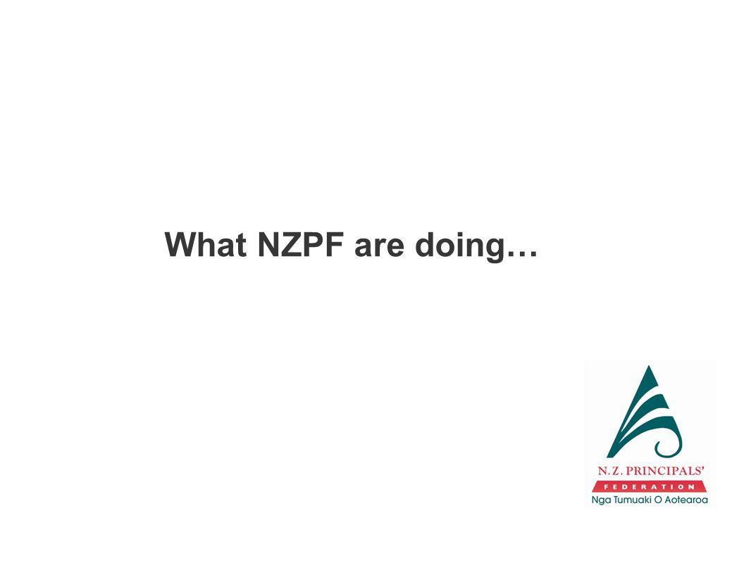 What NZPF are doing…
