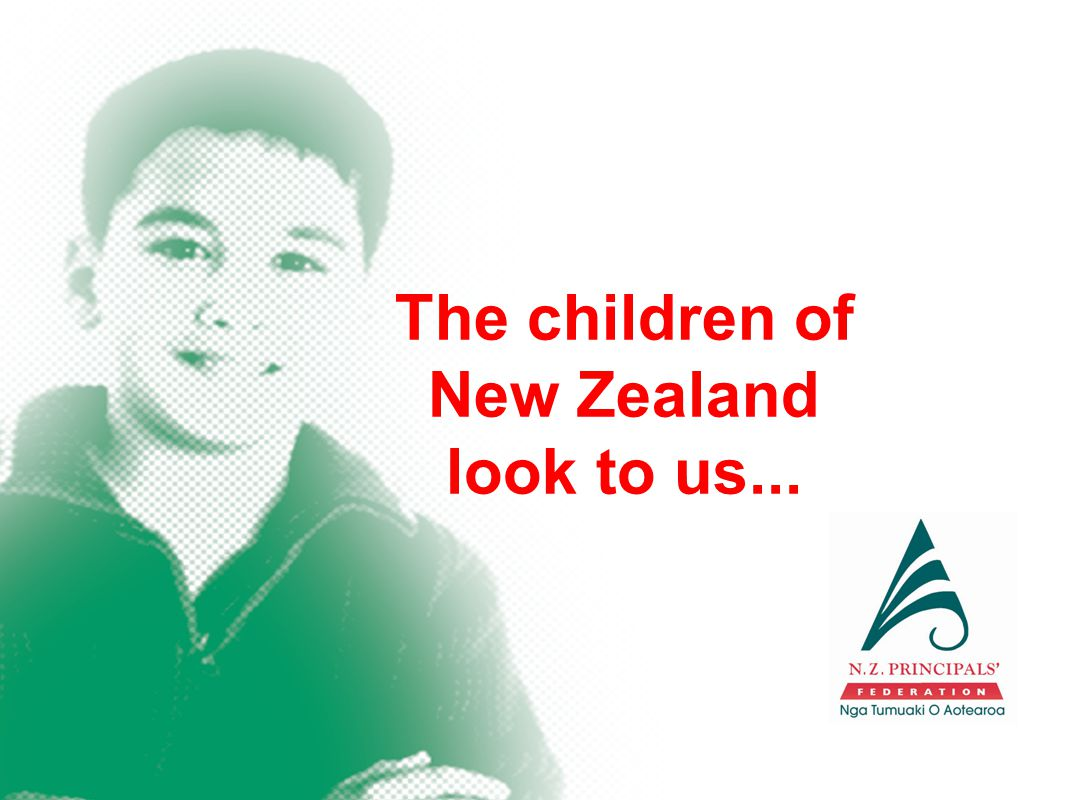 The children of New Zealand look to us...