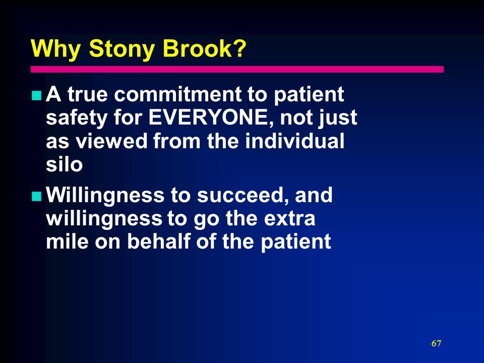 67 Why Stony Brook.
