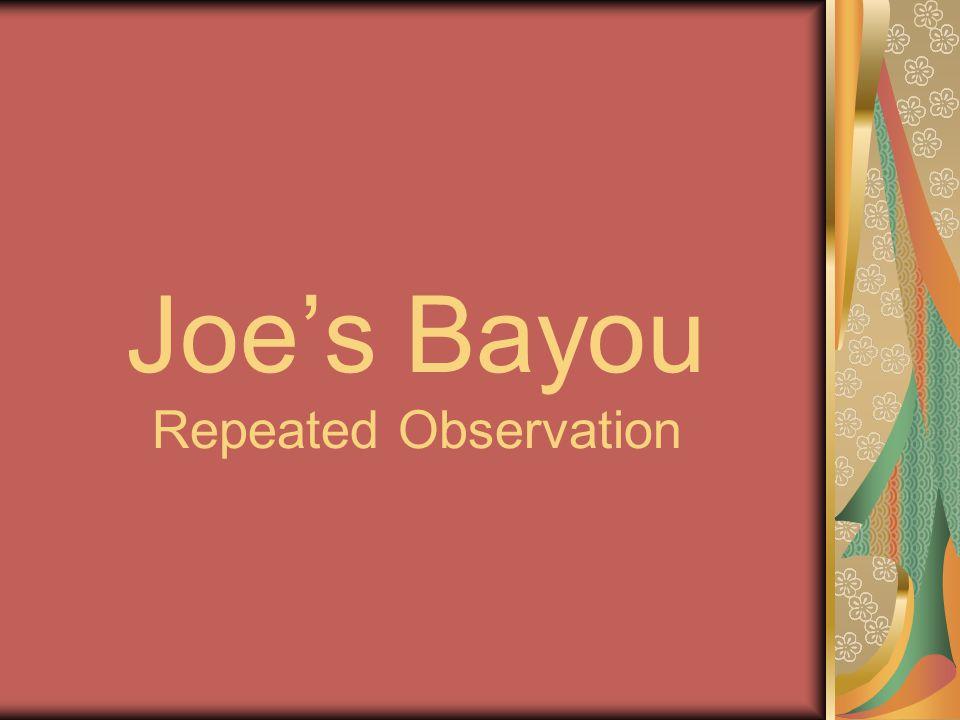 Joe's Bayou Repeated Observation