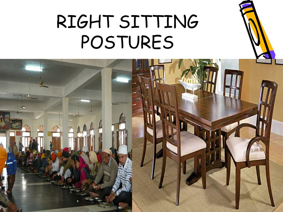 RIGHT SITTING POSTURES