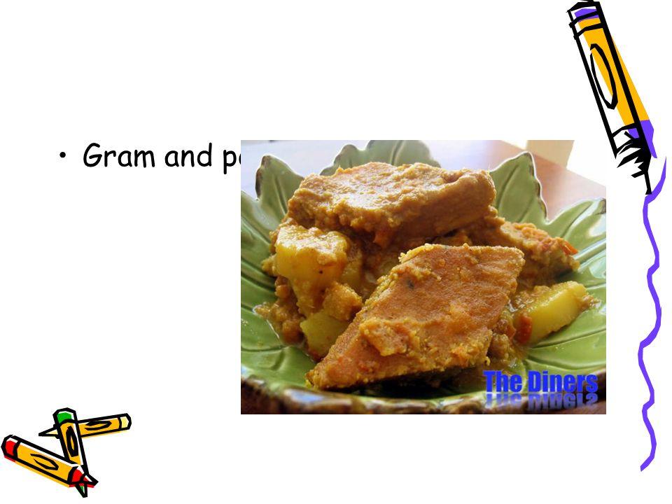 Gram and potato curry