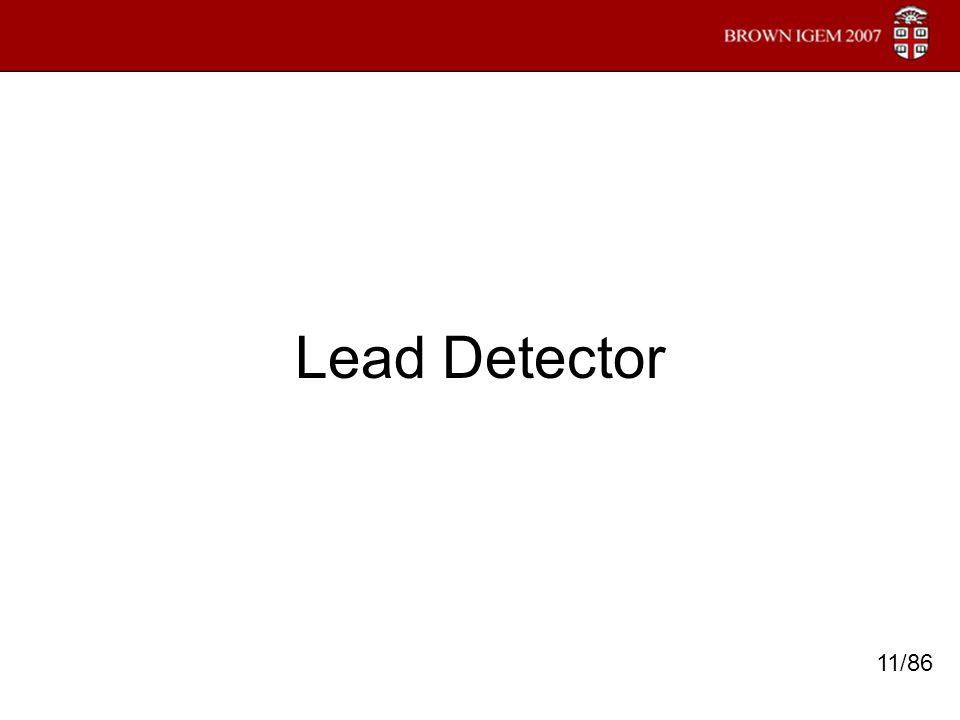 Lead Detector 11/86