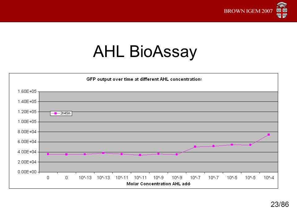 AHL BioAssay 23/86