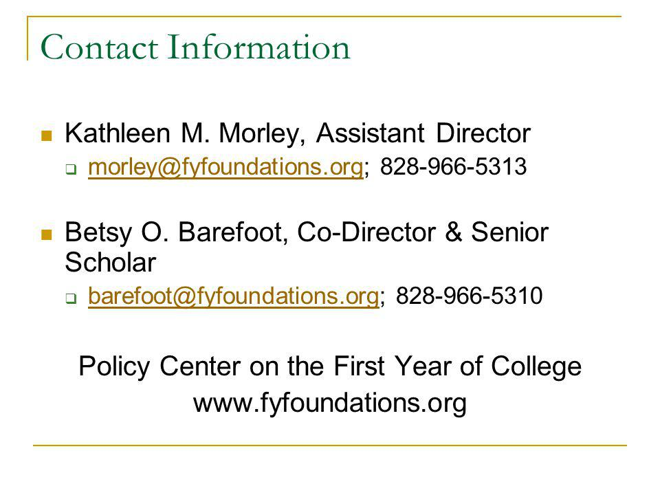 Contact Information Kathleen M.