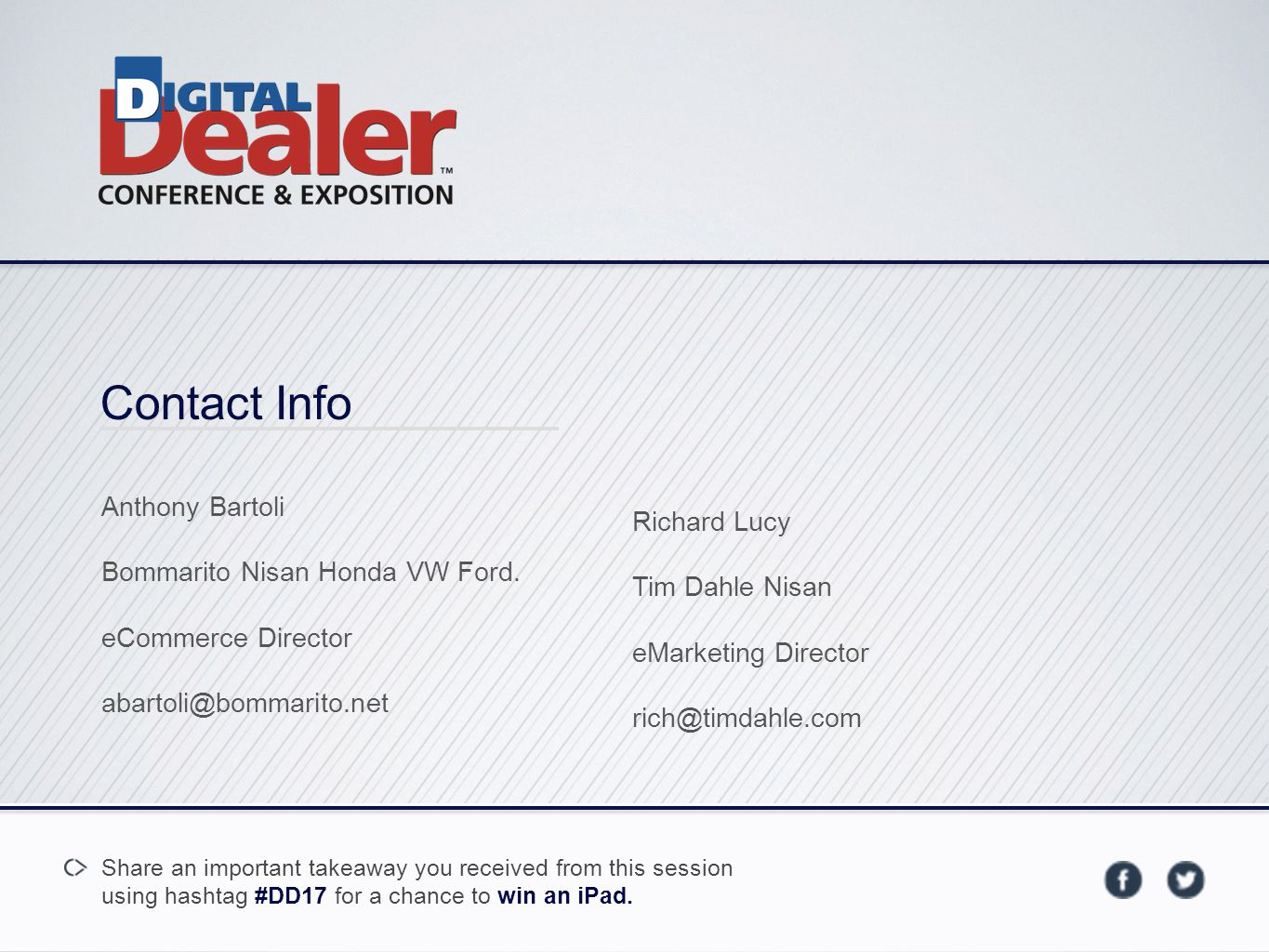 Contact Info Anthony Bartoli Bommarito Nisan Honda VW Ford.