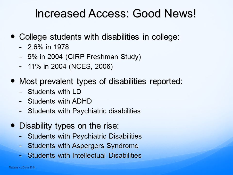 Increased Access: Good News.
