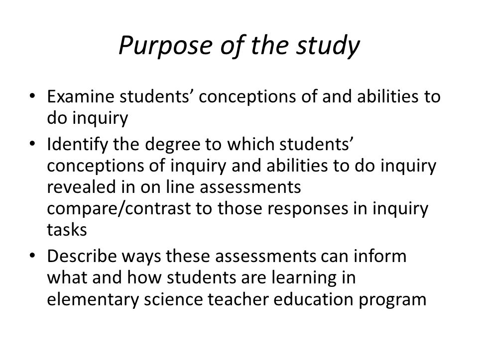 Defining inquiry Degree of teacher Degree of student involvement/directionindependence/direction CONFIRMATION STRUCTURED GUIDED INDEPENDENT INQUIRY INQUIRY INQURY Adapted from Brown & Melar, 2006; Crawford, 2007; Keys & Kennedy, 1999, Luera & Otto, 2005; McNeill & Krajcik, 2007; Smolleck, Zembal-Saul & Yoder, 2006; Windschitl, 2003