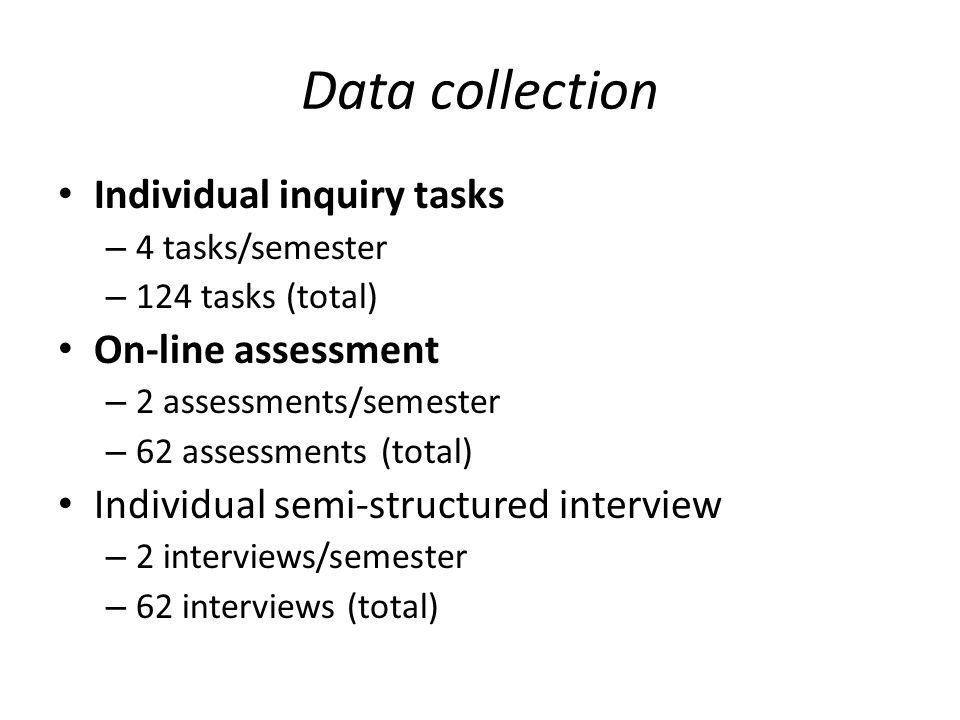 New questions Do students truly understand the nature of inquiry, more specifically, open inquiry.