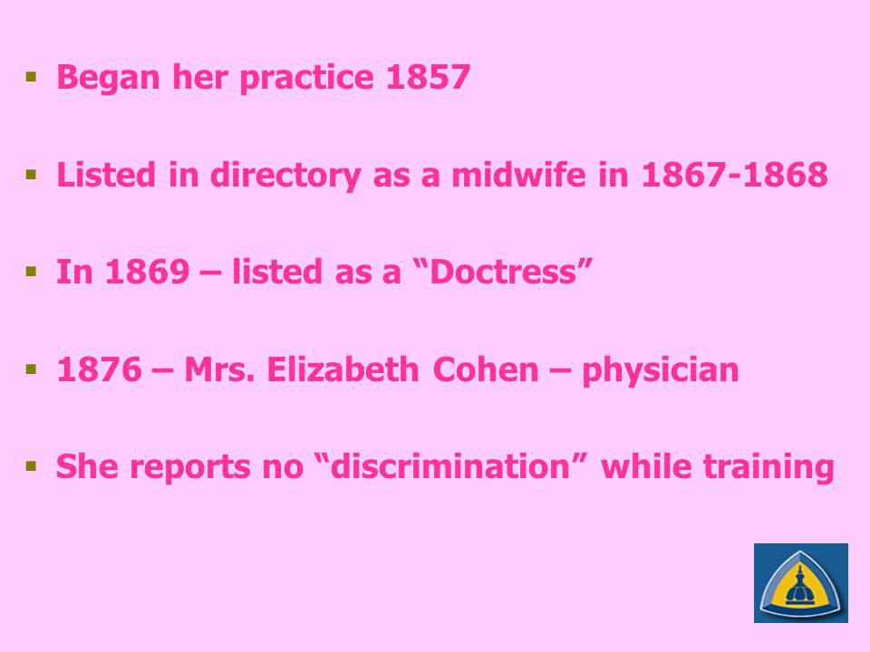   Born 1939 Lancashire, England   1958 Cambridge University – Bachelor and Master of Arts degrees with honors   1964 applied to surgical residency at Harvard women are too weak to be surgeons – refused her   Boston Children's – internship in pediatric medicine   1964 Georgetown – general surgery residency – 7 cases in 2 years   Community Hospitals – 700 cases / 12months   Children's National Medical Center Washington, DC – 2 year fellowship in pediatric surgery   My biggest obstacle was my gender