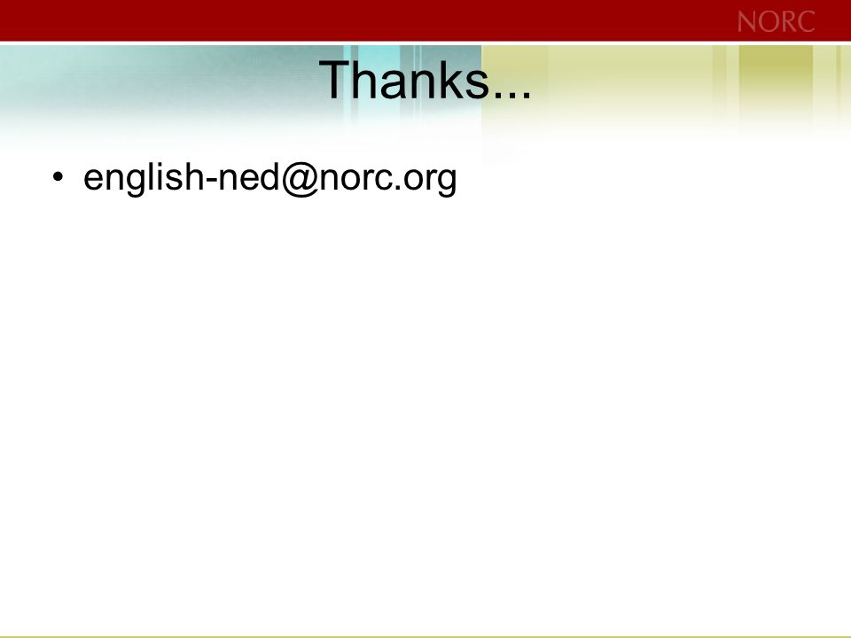 Thanks... english-ned@norc.org