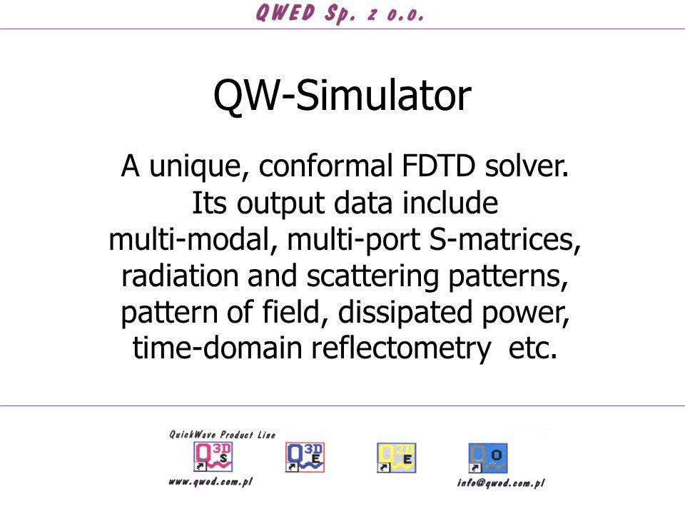 QW-Simulator A unique, conformal FDTD solver.
