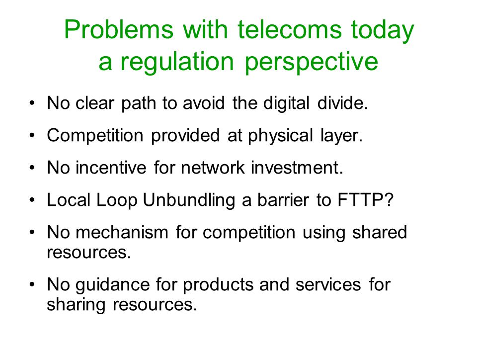 Standards perspective for competition and network services ITU-T Recommendation Y.2012