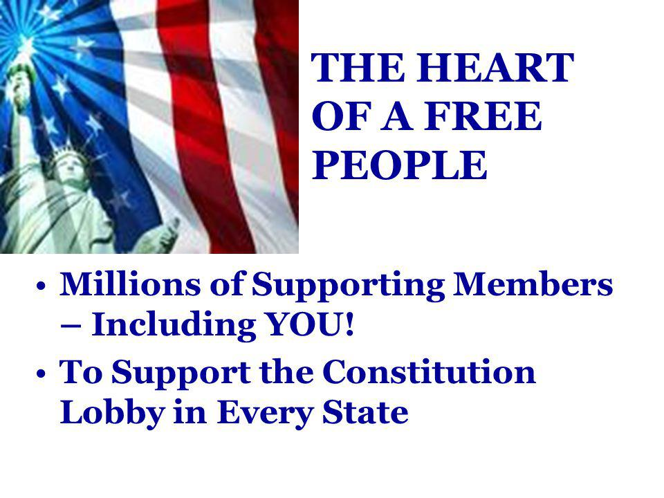 Millions of Supporting Members – Including YOU.