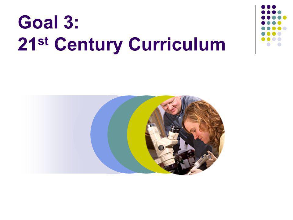 Goal 3: 21 st Century Curriculum