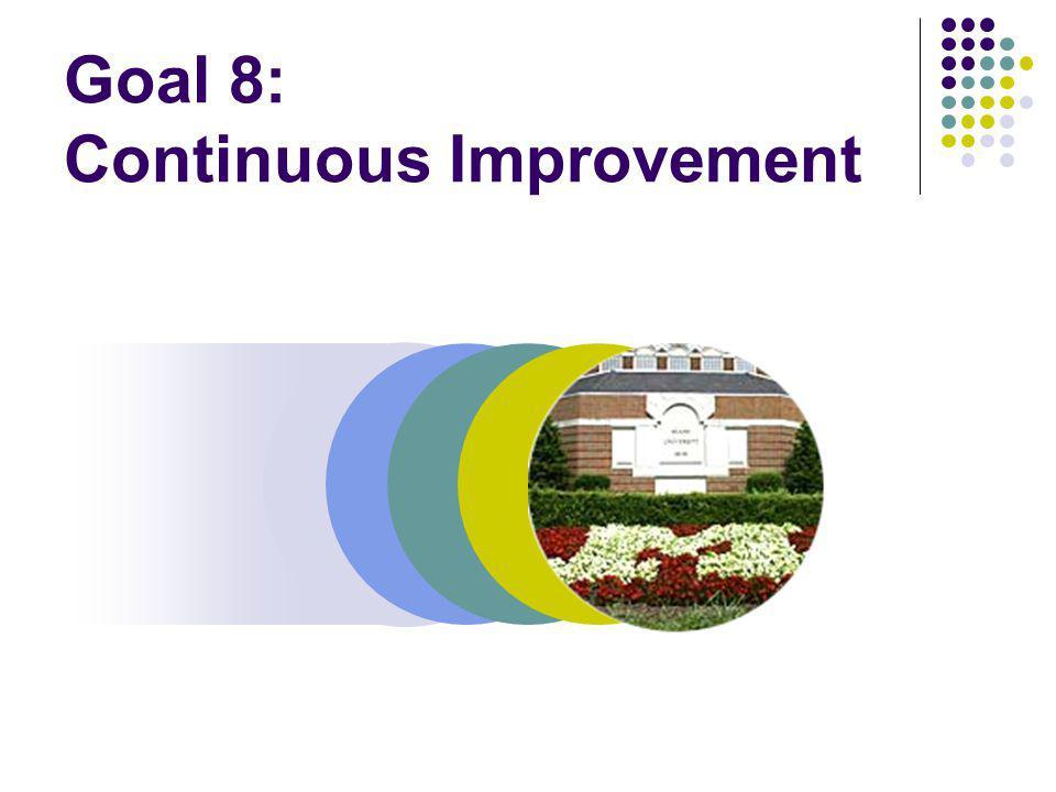 Goal 8: Continuous Improvement