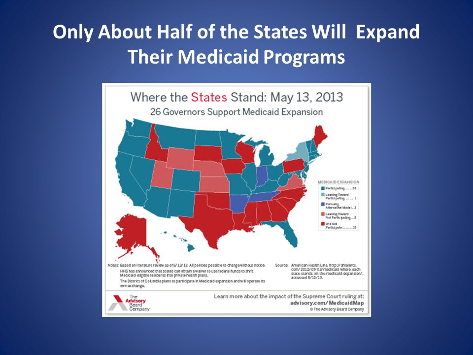 Only About Half of the States Will Expand Their Medicaid Programs