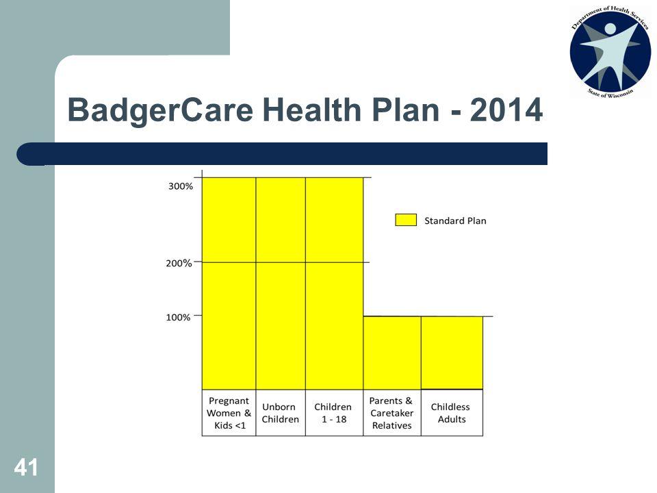 BadgerCare Health Plan - 2014 41