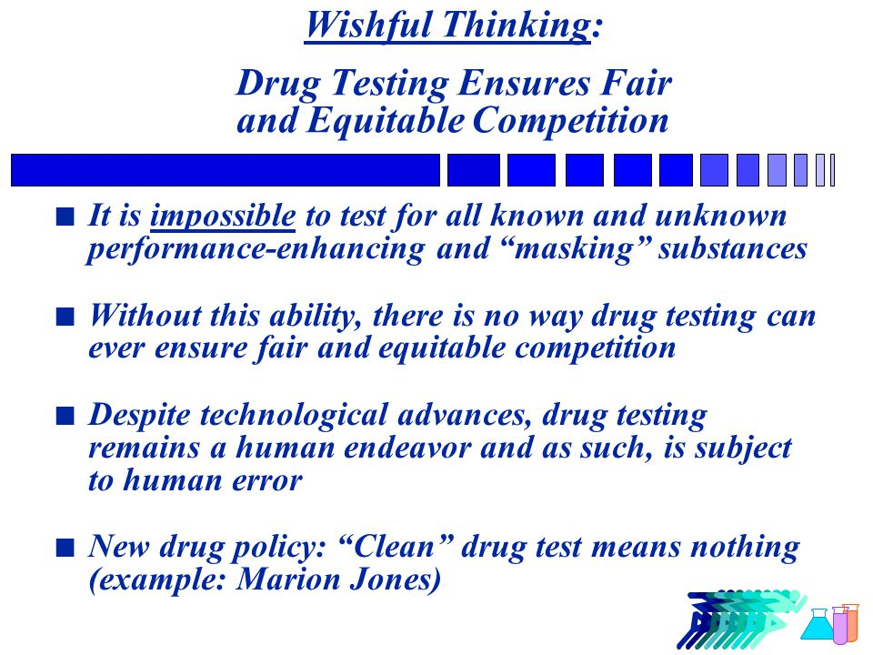 Even Top Drug Testing Officials Admit Testing Can't Identify Users Dr.