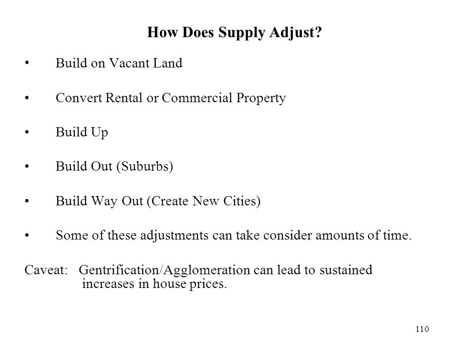 How Does Supply Adjust.