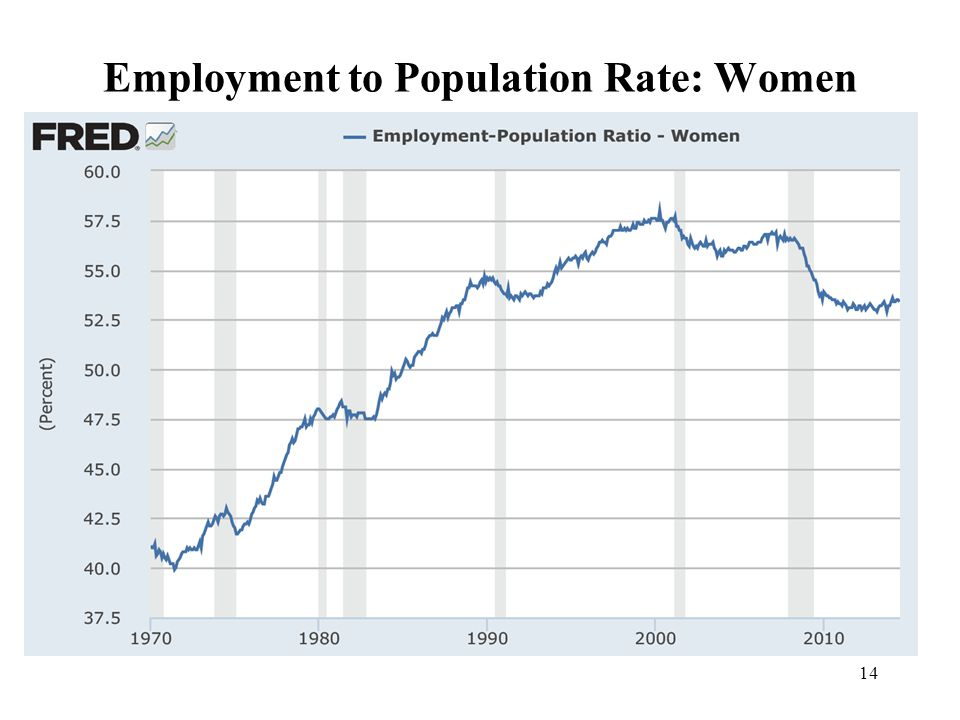 14 Employment to Population Rate: Women