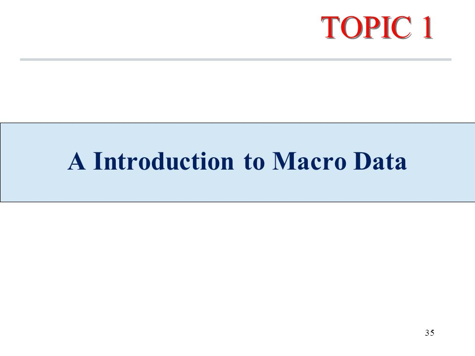 TOPIC 1 A Introduction to Macro Data 35