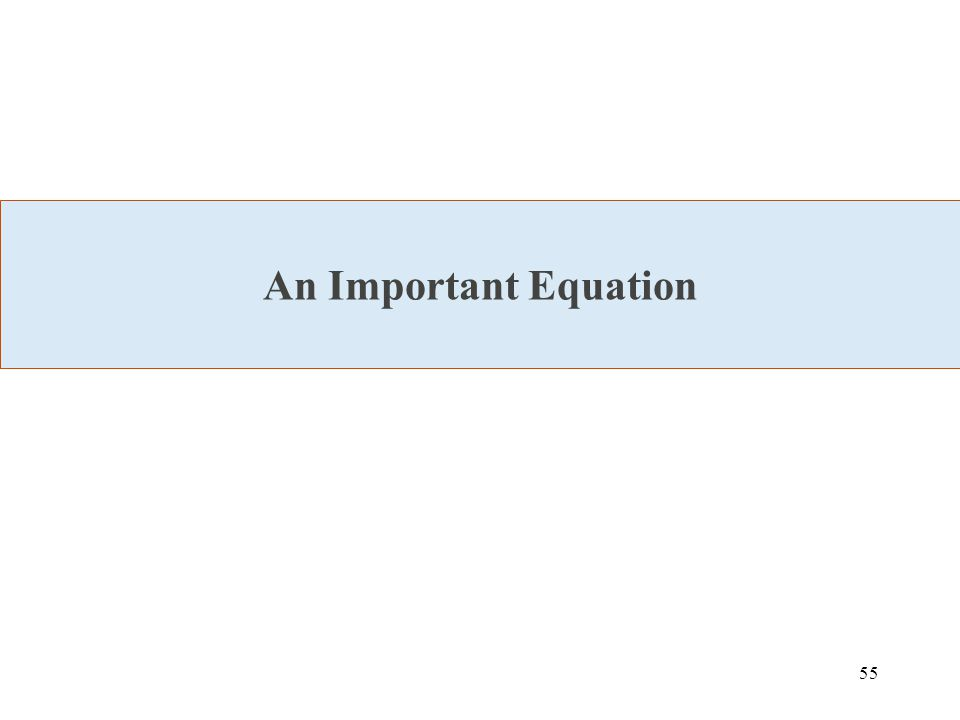 55 An Important Equation
