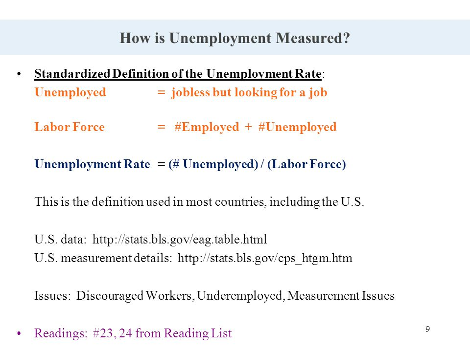 9 How is Unemployment Measured.