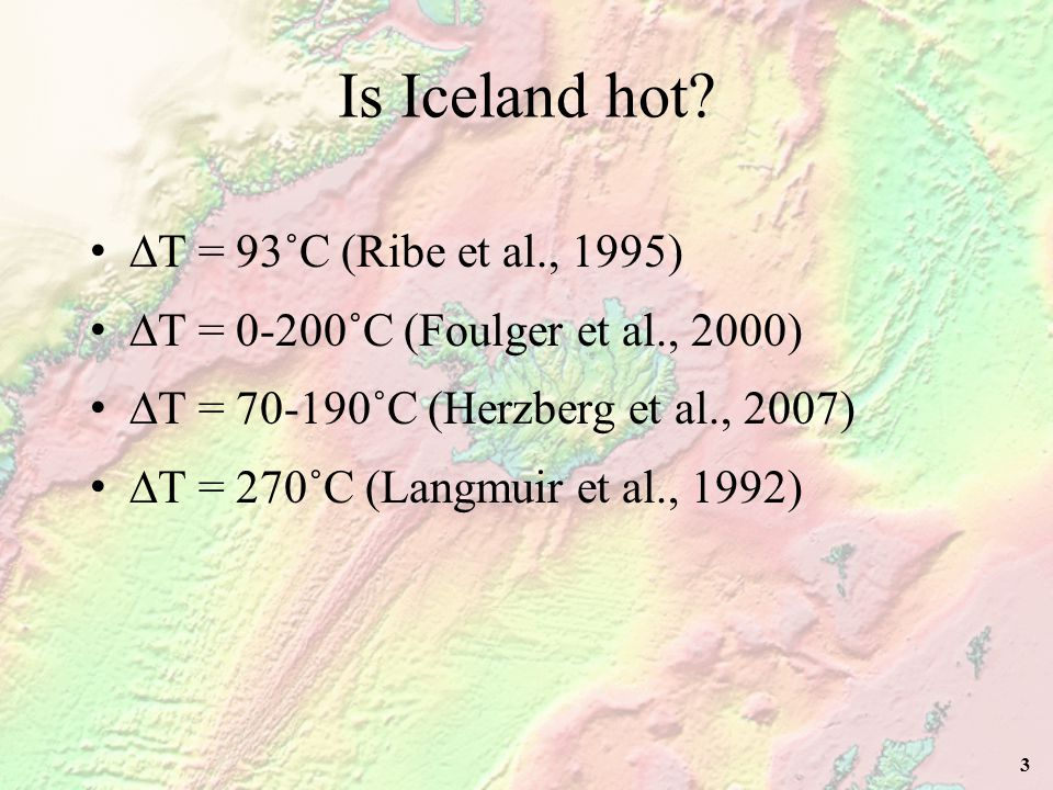 4 Is the Iceland hotspot a spot? Centre of the Iceland plume