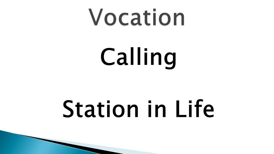 Calling Station in Life