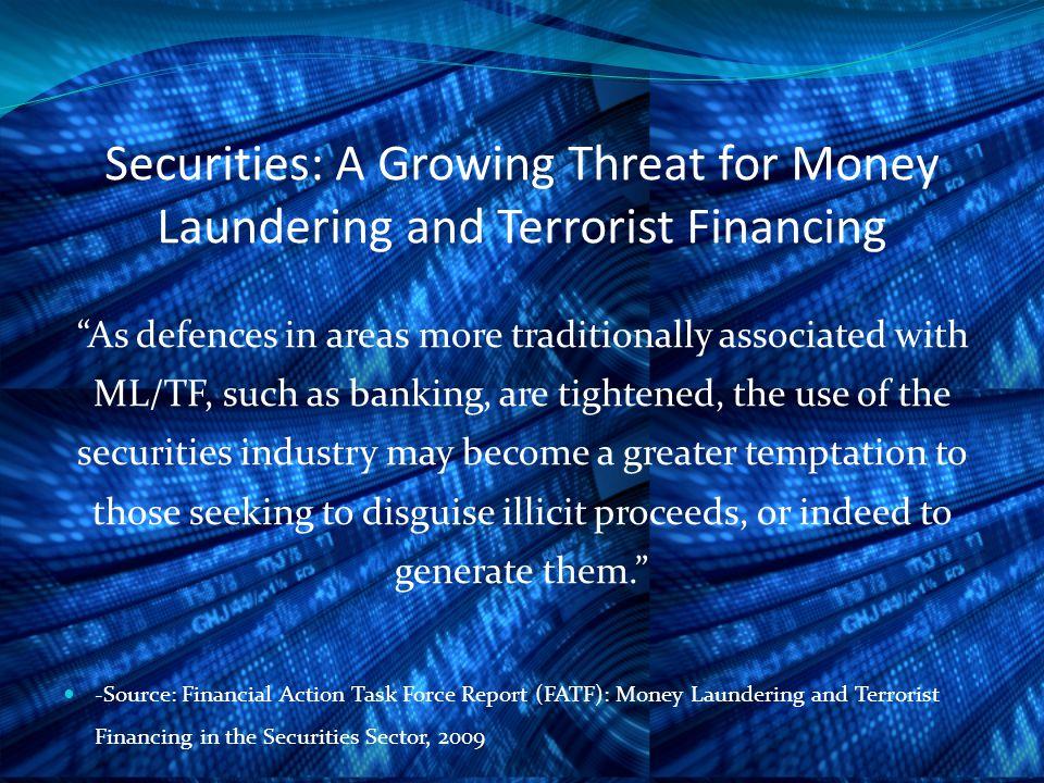 FATF: Identified Vulnerabilities in the Securities Industry 1.